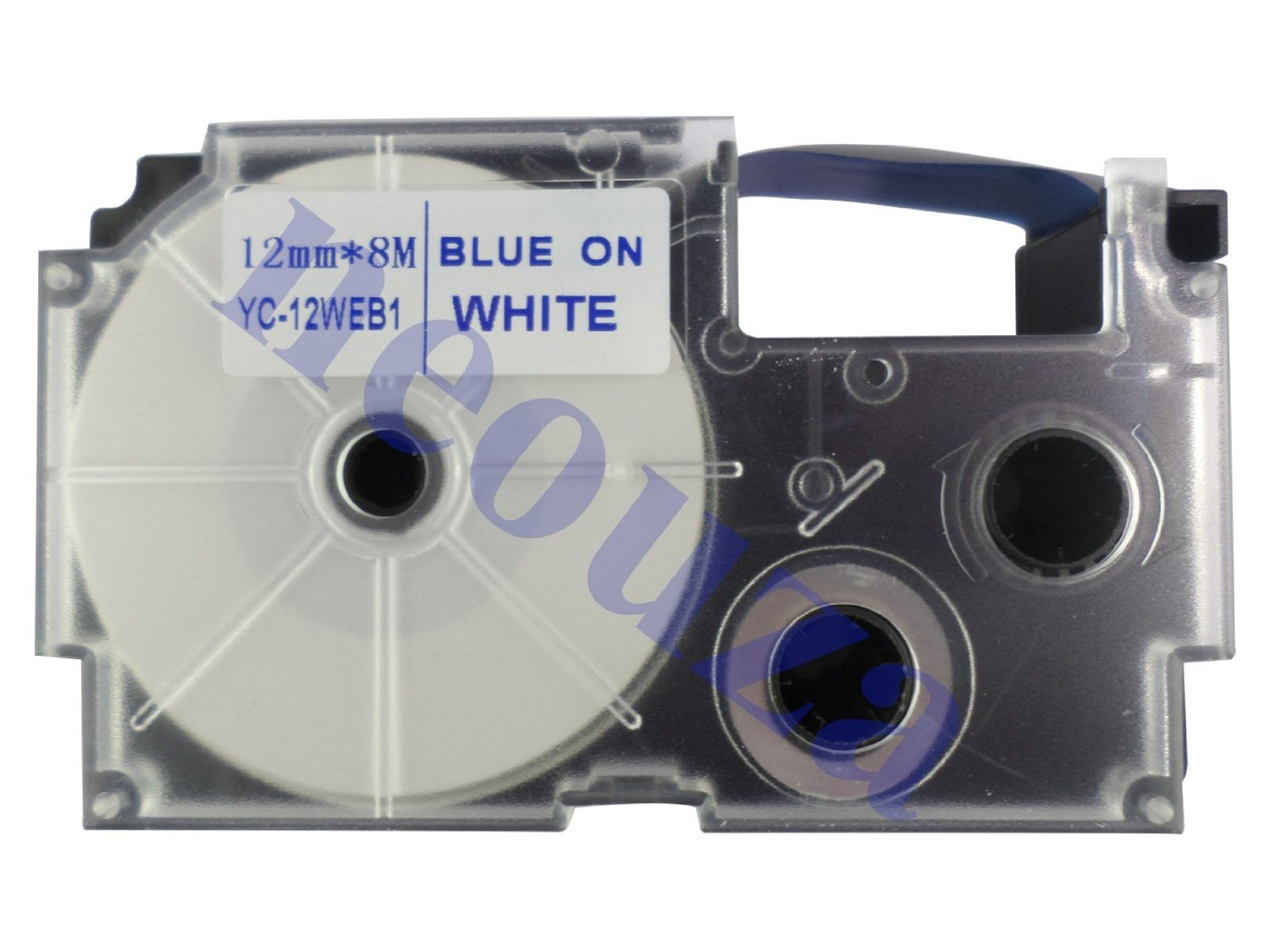 Compatible for Casio EZ-Label Tape 12mm Blue on White XR-12WEB1 8m LABEL IT!