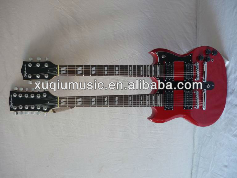 12 strings and 6 strings Electric guitar Double Neck