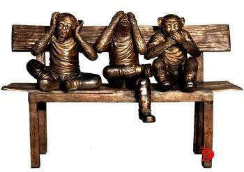 Hot ontwerp tuindecoratie bronzen aap te koop buy product on