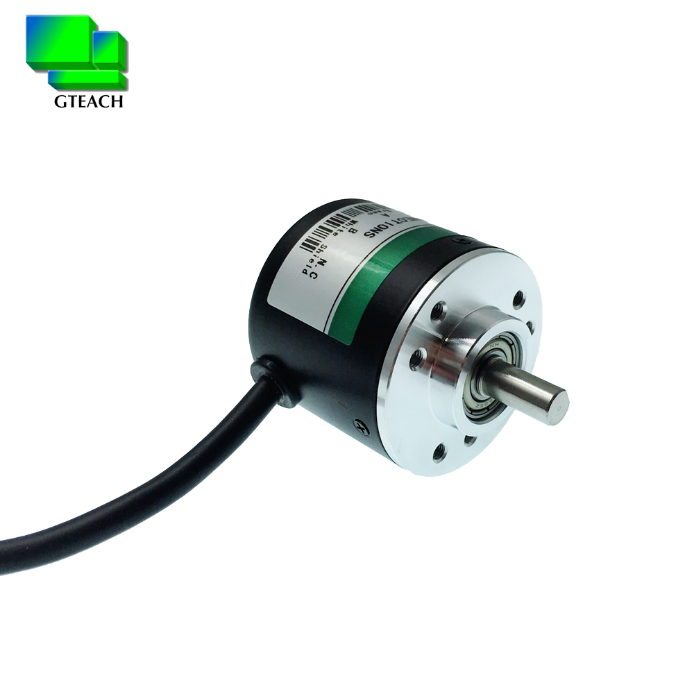 Speed sensor AB phase GTS06 series diameter 38mm shaft 6mm type incremental photoelectric encoder 200 ppr