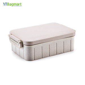 YTBagmart Eco Friendly Food grade Kids Bento Rectangle Wheat Fiber Lunch Box