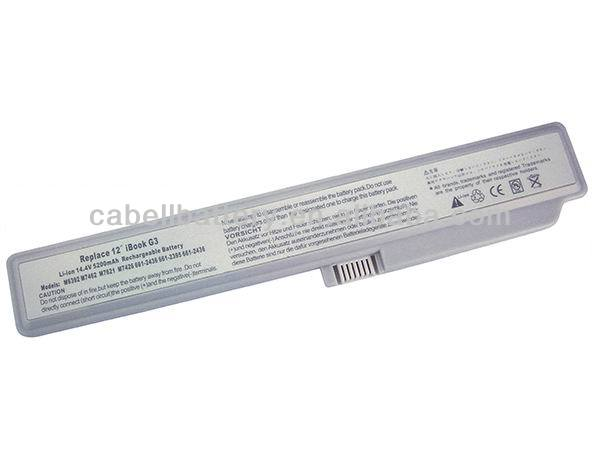 A Grade computer battery Cheap notebook Battery Replacement laptop battery charger for Apple iBook G3 12 M6392/M7462G