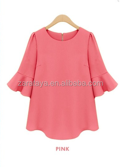 2015 New Fashion Women Tops Shirt   Blouse Top Type fashion design elegant  blouses design lady. 2015 New Fashion Women Tops Shirt   Blouse Top Type Fashion Design