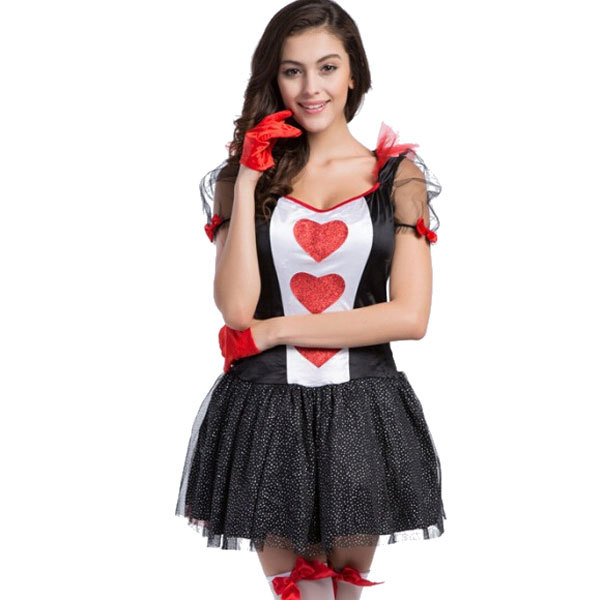 free shipping newly arrival free shipping enchanting fantasy party dress queen of hearts costume luxury halloween costume
