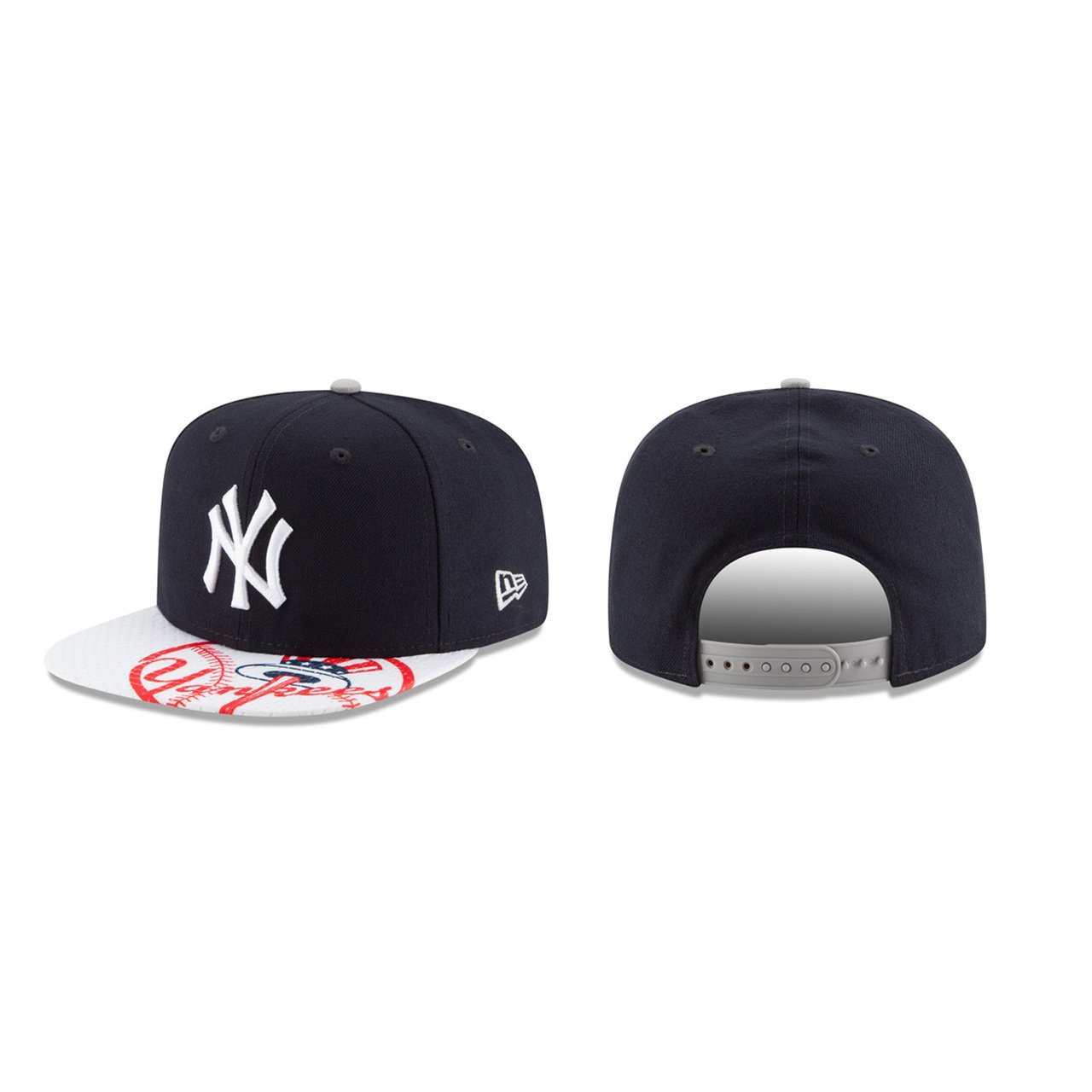 0b640ed8acf Get Quotations · New York Yankees Adult Gym Class Snapback Cap - Navy