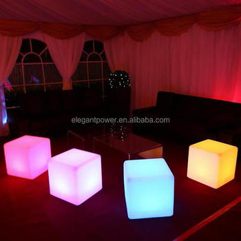 Led Cube Light Solar Light/ Kids Cube Chair/ Fancy Led Bar Cubes