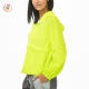 long sleeve loose drawstring hood neon woven Drawstring Half-Zip Windbreaker sports tops women wear