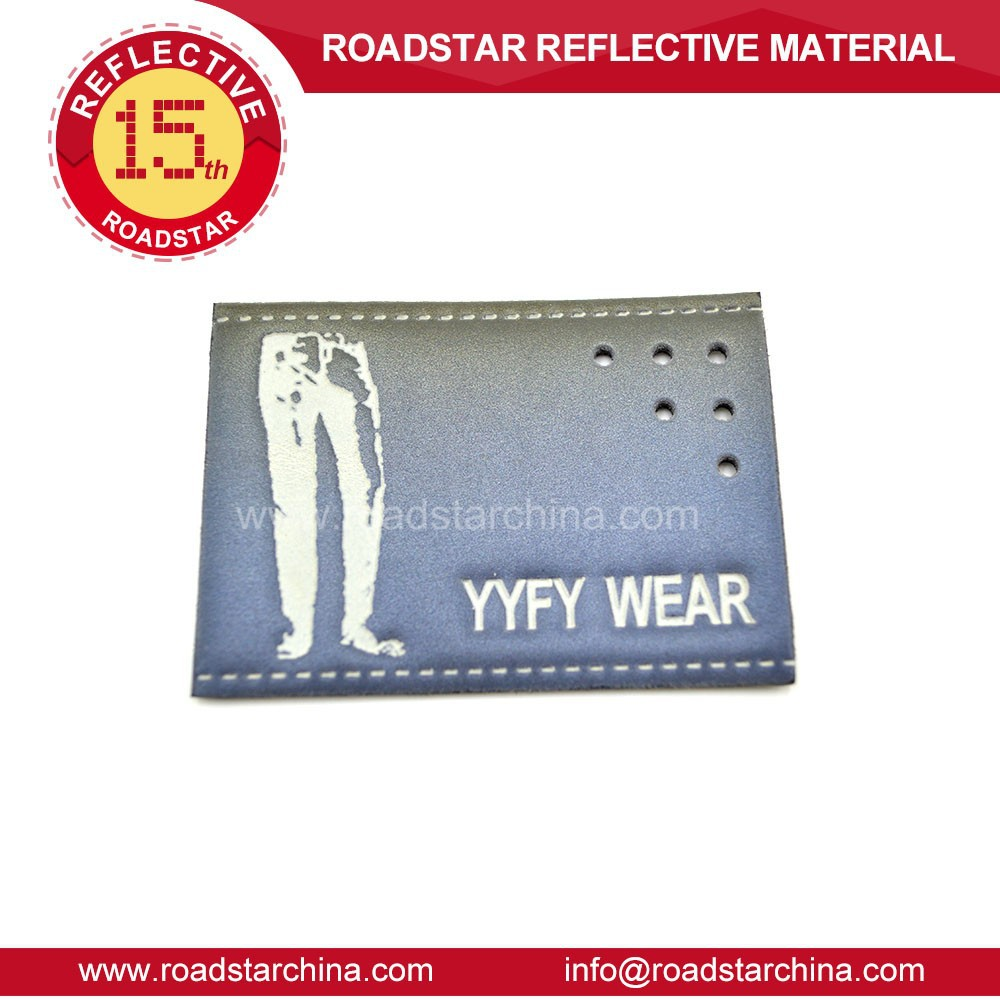 High reflectivity colorful reflector leather patch
