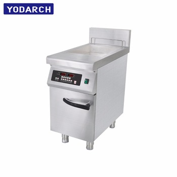 Commercial Machine Timer Temperature Control Induction Deep Fryer For Frying Delicious Chicken