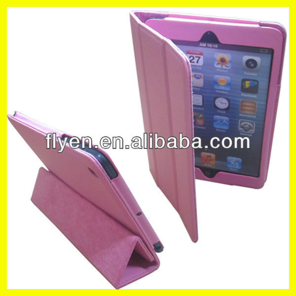 Fold Stand Tri-folio Case 360 Degree Rotate for iPad Cases and Cover Leather Wake UP Sleep Magnetic Manufacturer Wholesale