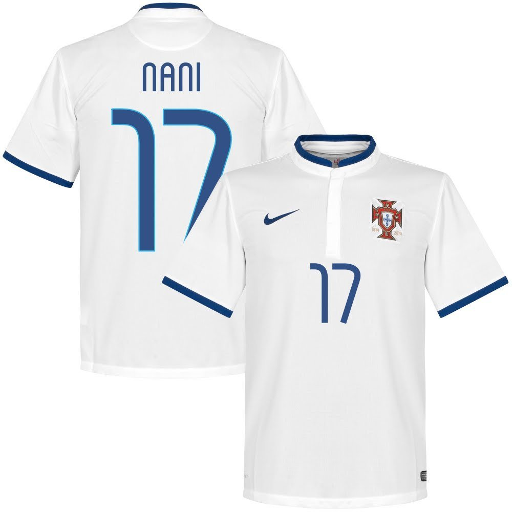 02c18f875 Get Quotations · Portugal Away Nani Jersey 2014   2015 (Fan Style Printing)