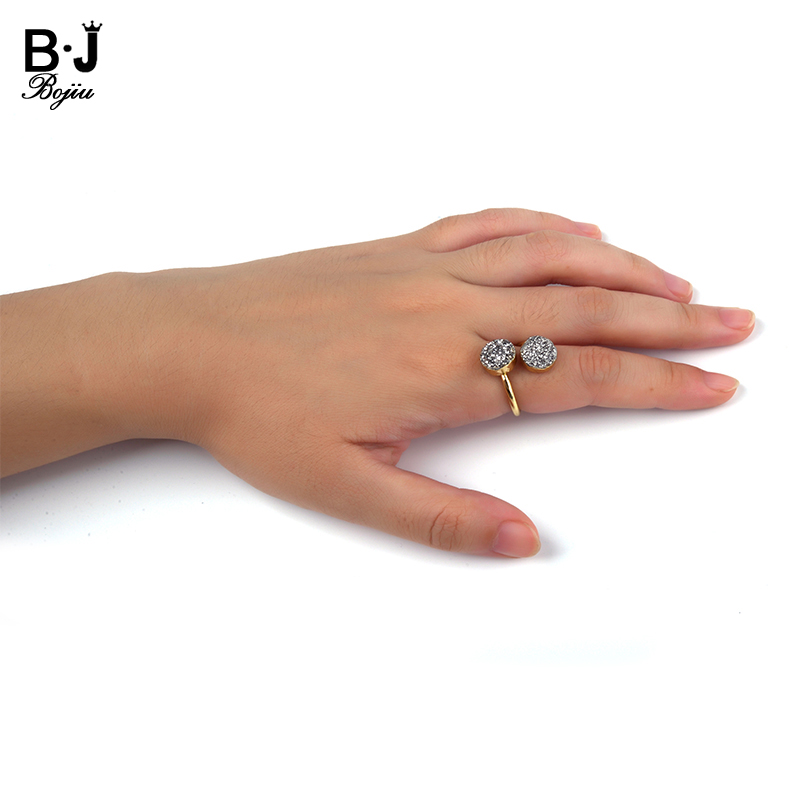 glittered druzy gold women finger ring ali express cheap price wholesale diamond engagement ring