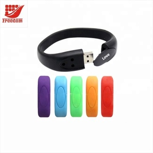 High Quality Colorful Custom Silicone Wristbands USB Flash Drive