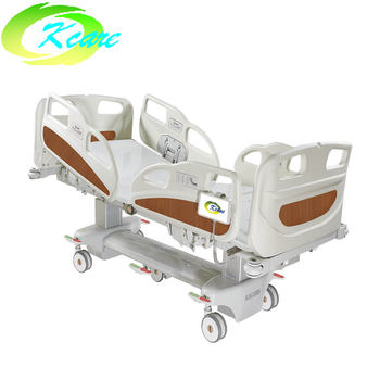 Multifunction lateral tilt rolling icu electrical hospital bed with cpr function
