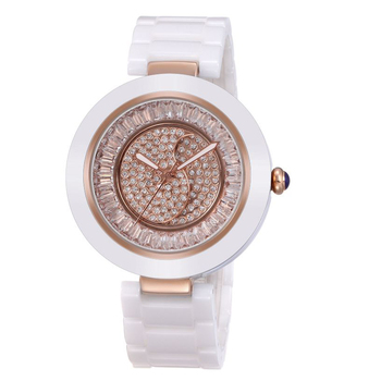 WEIQIN High Quality Small MOQ Charm Type Luxury Ladies Ceramic Watches