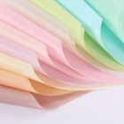New arrival pure color glossy 60cm korea waterproof wrapping paper for flower