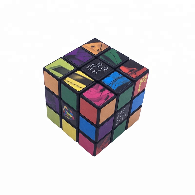 Educational Toy 5.7cm Plastic ABS Rotated Promotional Customized Picture Puzzle Magic Cube