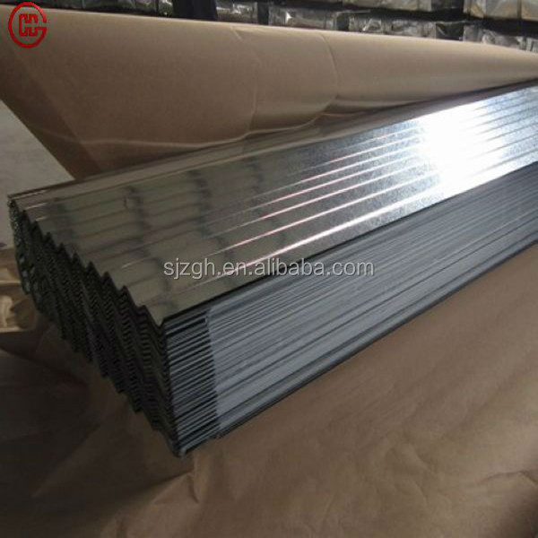 wave sheets for roofing in galvanized Peak height 27.2mm