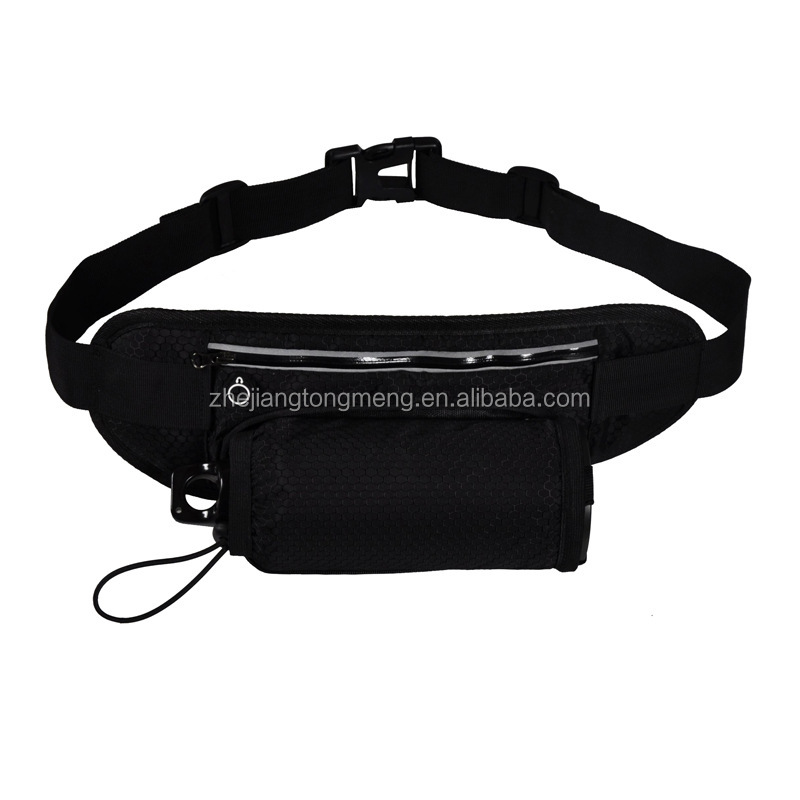 High Quality Reflective Running Belt Waist Bag With Water Bottle Holder