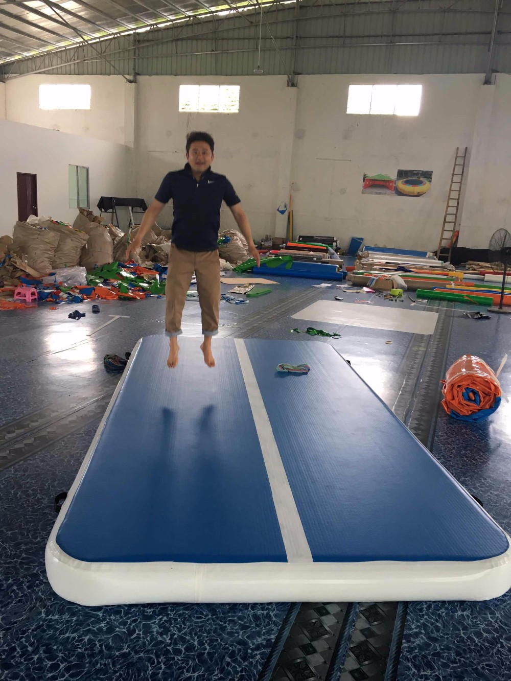 2017 Alibaba Guangzhou Manufactures Wholesale Gym Mats Gymnastic Tumble Blue Color Kids