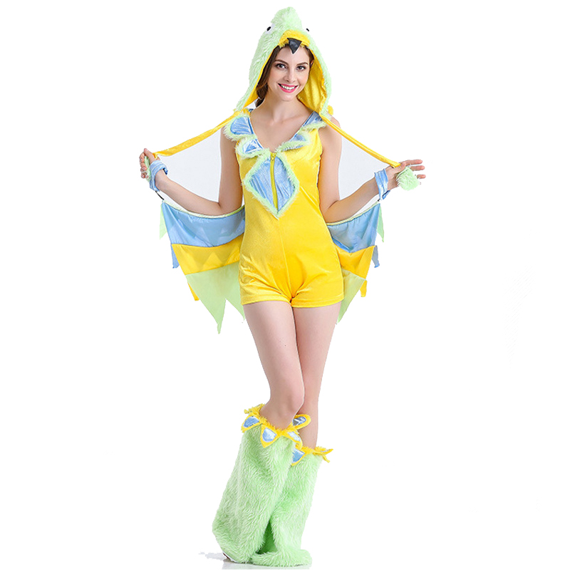 best price factory wholesale fancy hot sexy Halloween bird costume for adult