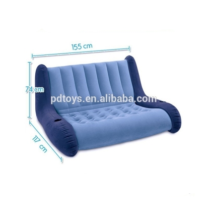 Accessories Humor Modern Adult Inflatable Solid Sofa Leisure Living Room Furniture Comfortable Recreational Flocking Pvc Lounger Sofa Chair