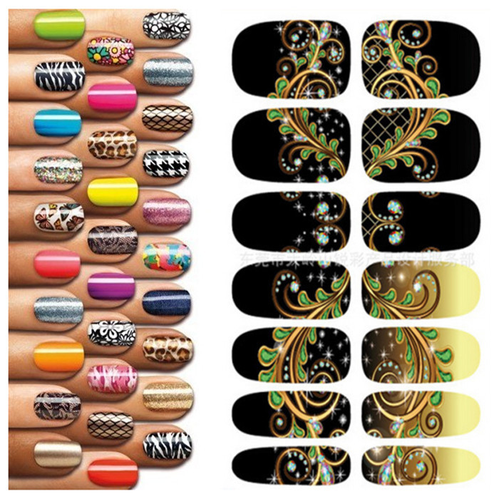 Mysterious-Black-Fantasy-Pattern-Nail-Art-Decorations