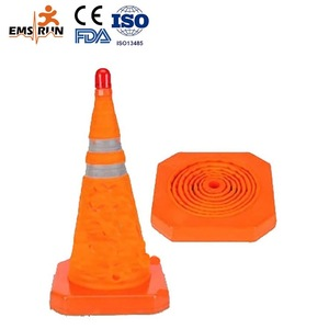 Used in heavy fog weather safety cones and barriers in the danger area