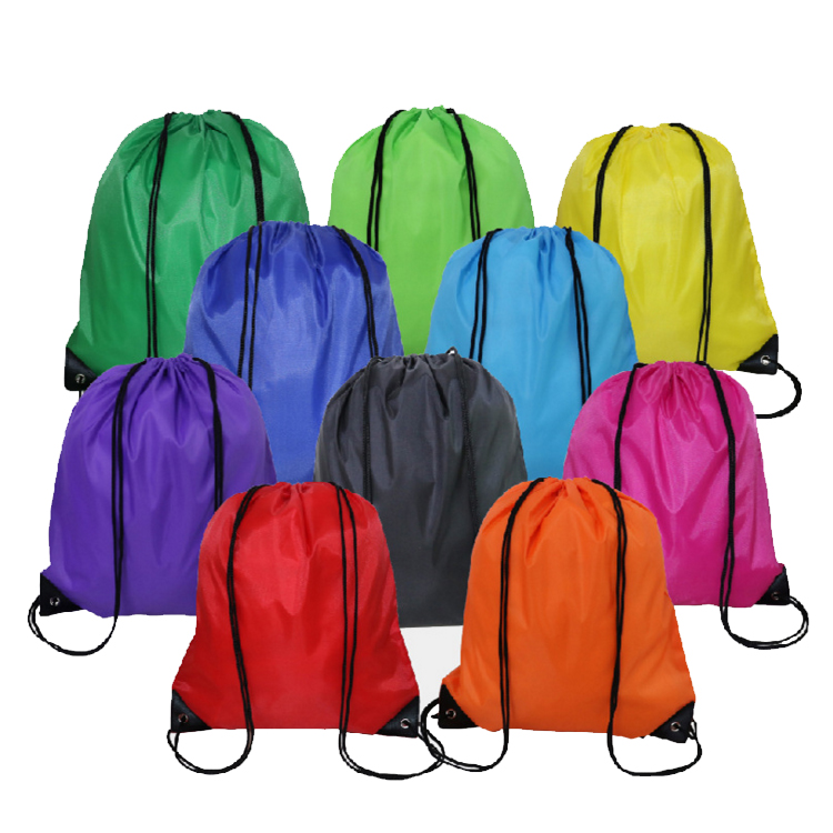 Custom Sports Travel Polyester Shoe Drawstring Backpack Bag