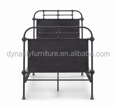 vintage industrial new style iron double bed designs
