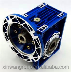 Industrial aluminium NMRV worm gearbox speed reduction ratio 5-100