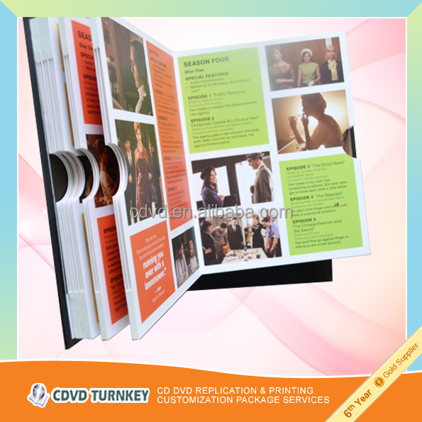 CUSTOM PRINTED CHIPBOARD DVD/BOOKS PACKING BOX
