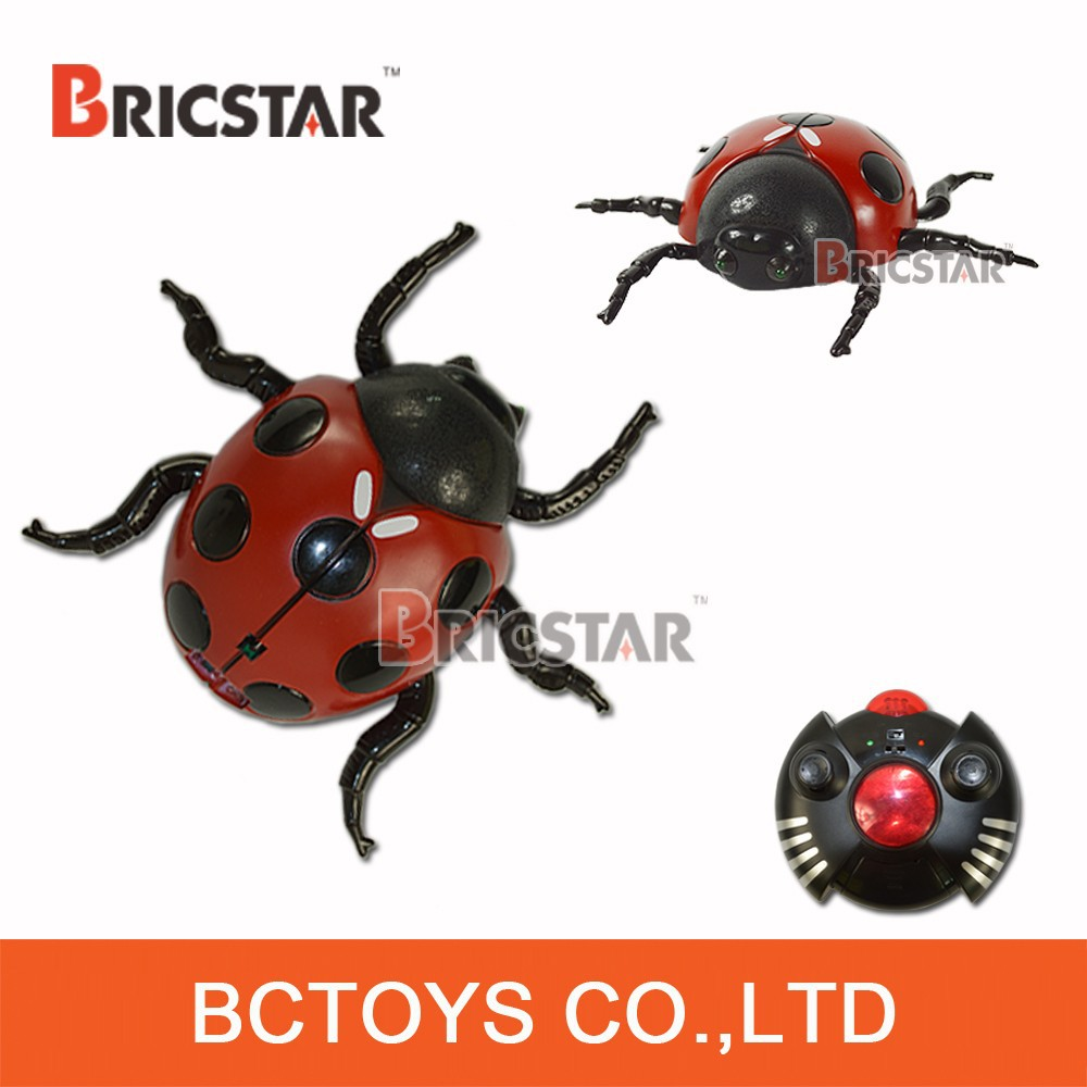Two speed mode rc wall climber beetle mini plastic insect toy, robot insect toy.