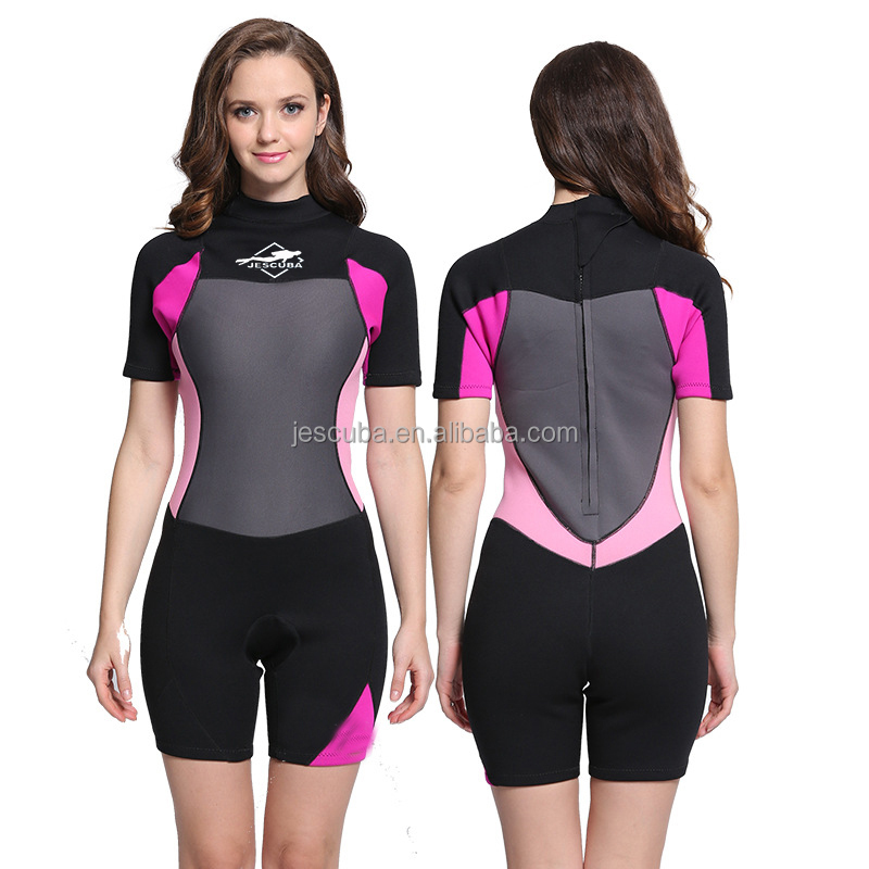 3mm shorty neoprene surf wetsuits Neoprene Shorty Surfing diving Wetsuit suit with back zipper