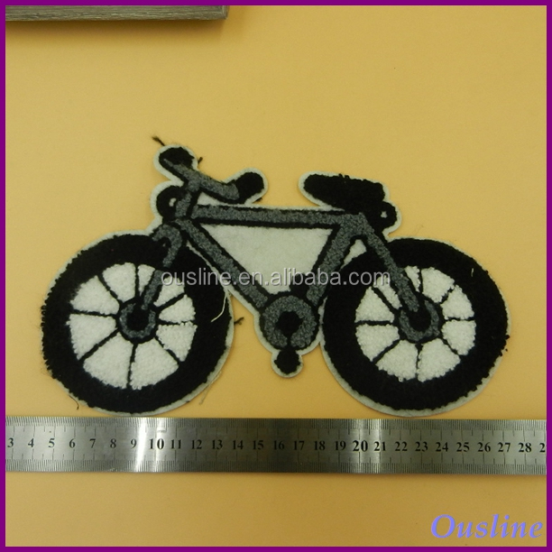 bike embroidered patch, embroidered bicycle patches