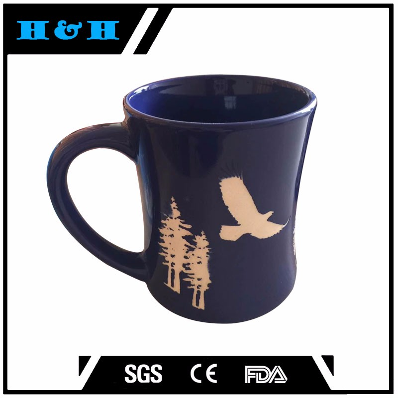 Fctory Round handle heat reactive big mug