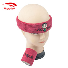 도매 Custom 자수 (eiffel tower) 패턴 면 Sport Head Sweatband