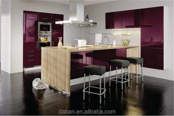 Kitchen Cabinet Vinyl Wrap/lacquer Kitchen Cabinet Model