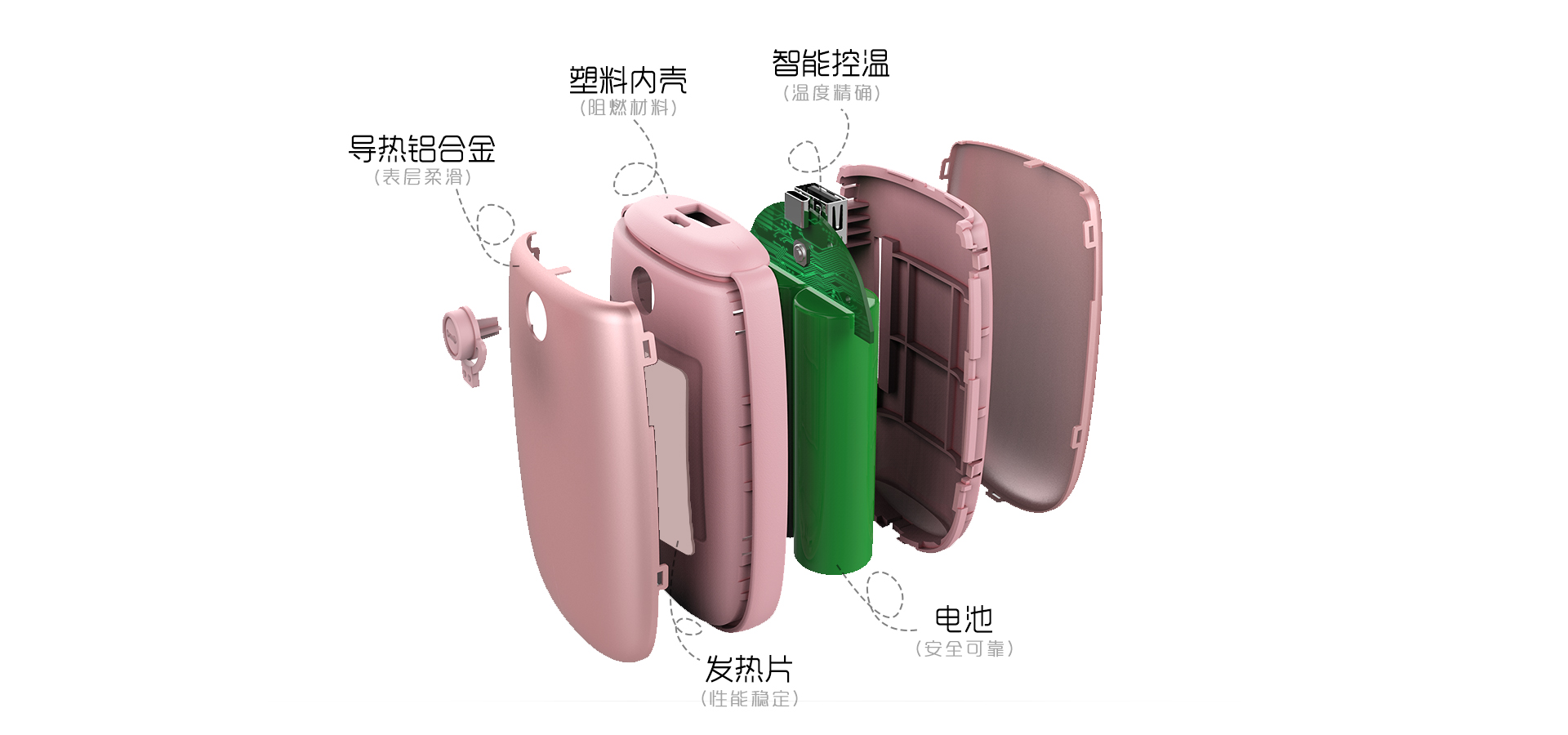 new design rechargeable 5000mAh pocket hand warmer power bank