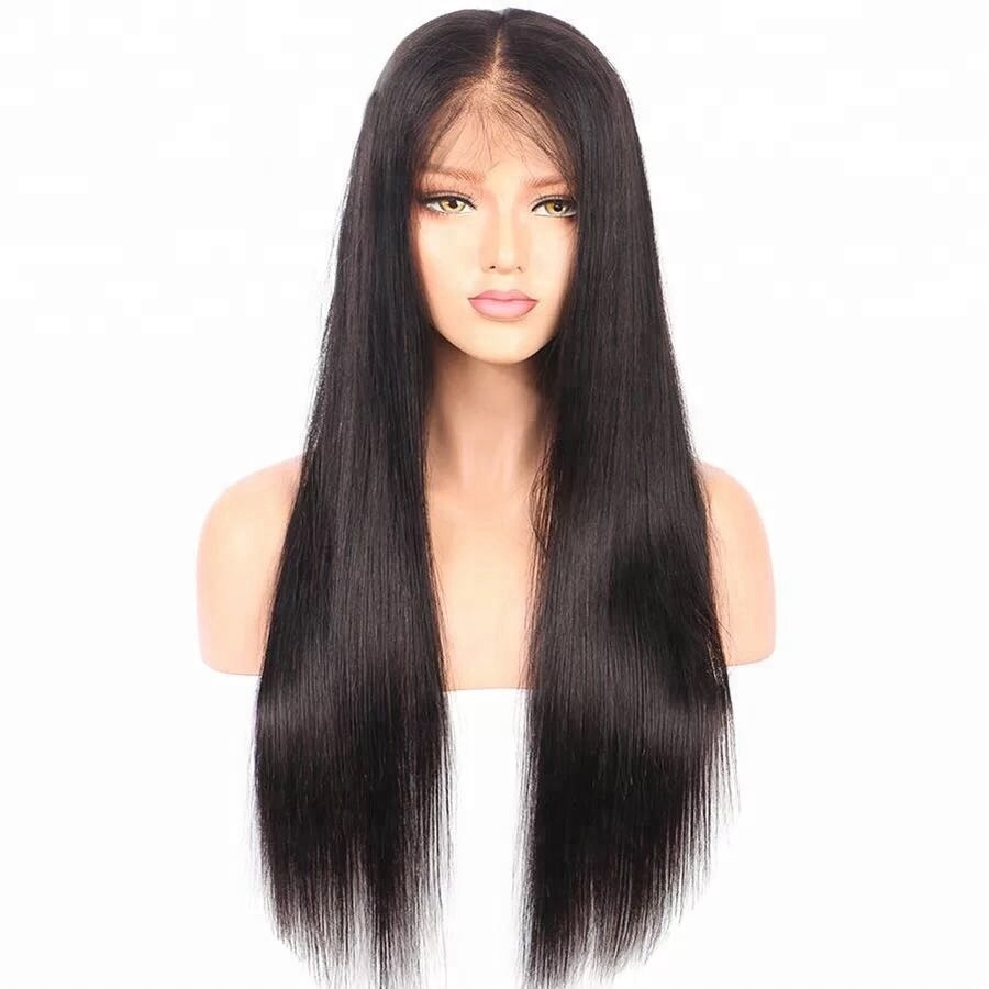 Wholesale Virgin Human Hair Silky Straight Full Lace Wig With Baby Hair For Black Women