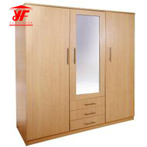 Amazon solid wood manufacturers direct mirror wardrobe bedroom