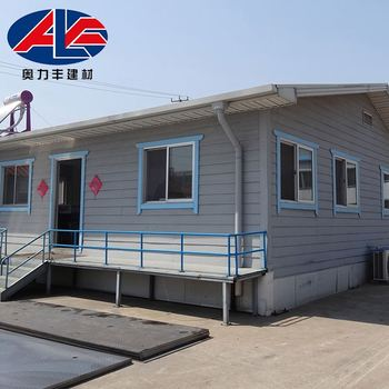 Steel Slope Roof Strong Cabin Prefab Houses Made In China