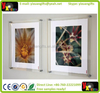 Manufacturing Wall Mounted Acrylic Photo Framesplexiglass Photo
