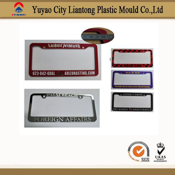 Top quality hot selling plastic car license plate frame car plate holder