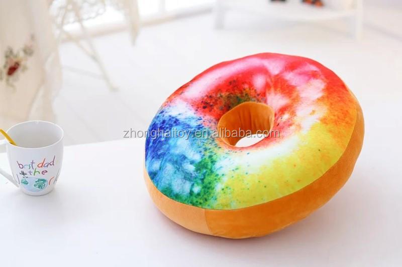 Donut kussen diverse soorten custom pluche gevuld katoen voedsel