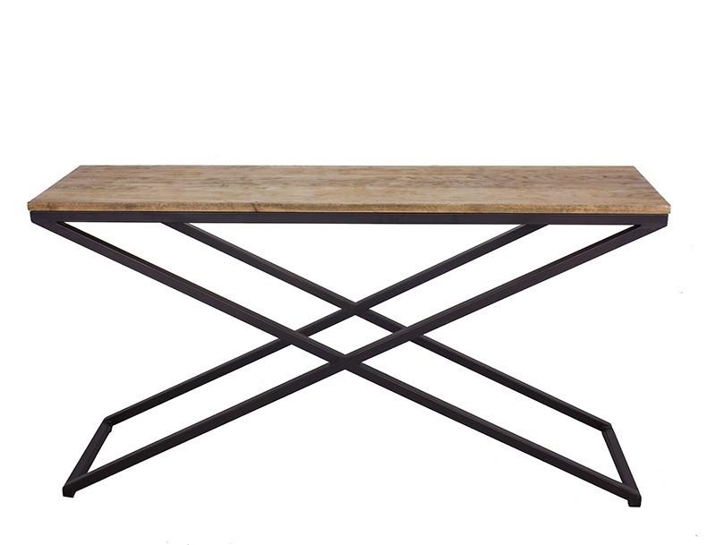 Stile di ferro d 39 epoca francese tavolino in legno gambe - Gambe in ferro per tavoli ...