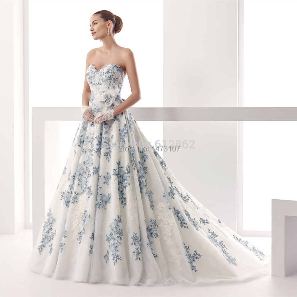 2015 Strapless Sweetheart Low Back Ball Gown Lace Royal ...