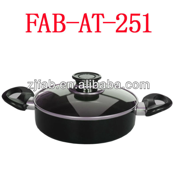 aluminum sauce pot with two side handles