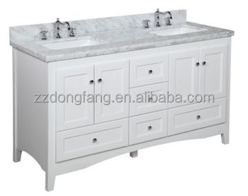 60 Carrera Marble Premium Double Bathroom Vanity