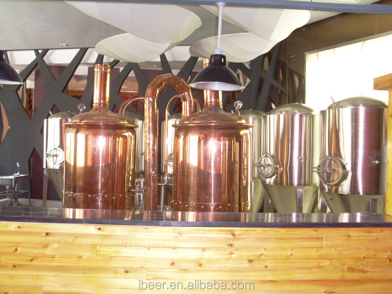 mini brewery red copper beer brewing equipment for sale